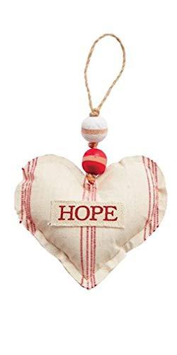 Mud Pie Heart Hope Tartan Ornament