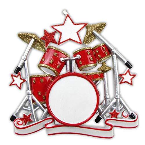 Polar X Drum Set Personalized Christmas Ornament