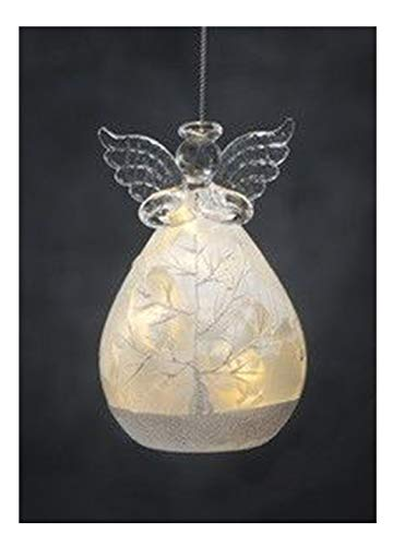 Ganz Battery Operated Angel LED Holiday Frosted Ornaments ~ Choose from Four Designs (Angel (C))