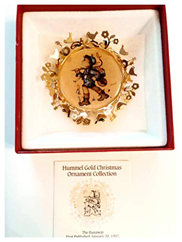 Collectors Club 1986 Hummel Gold The Runaway Christmas Ornament