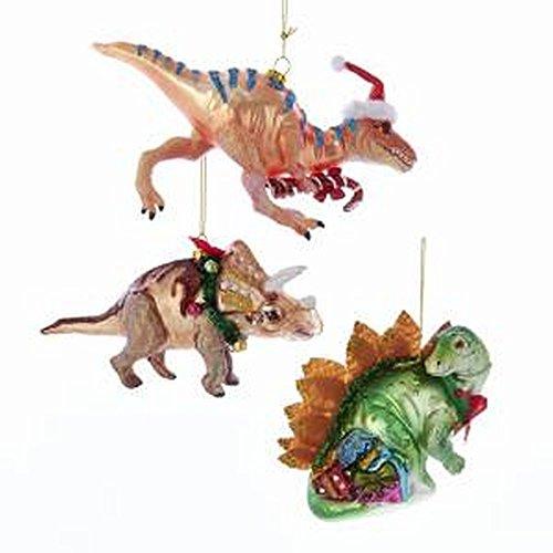 Kurt Adler 3.75″ Noble Gems Dinosaur Ornament 3/A