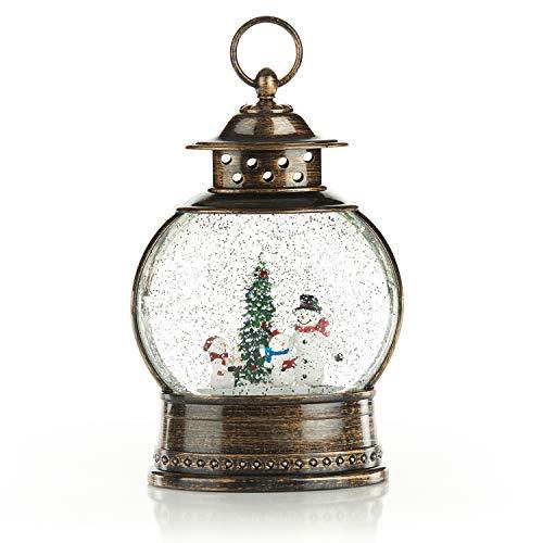 ReLive Christmas Light-Up Snow Globe Lantern – Snowman Family