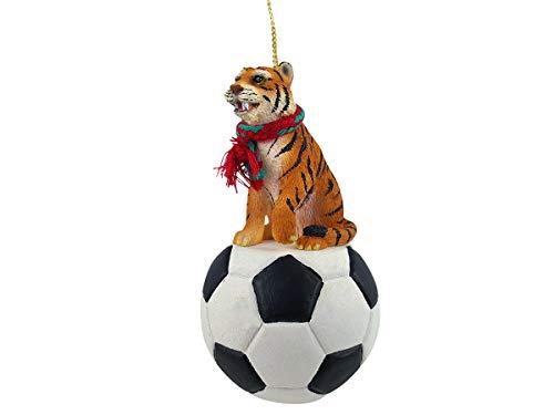 Conversation Concepts Tiger Soccer Ornament