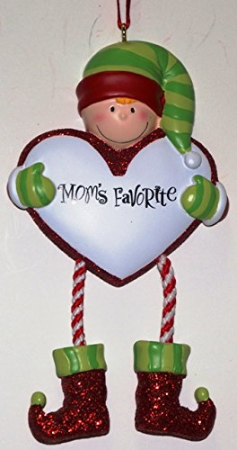 Mom's Favorite Personalized Christmas Tree Ornament