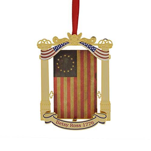 Thacker Mountain Holidays Betsy Ross 1776 Flag Ornament