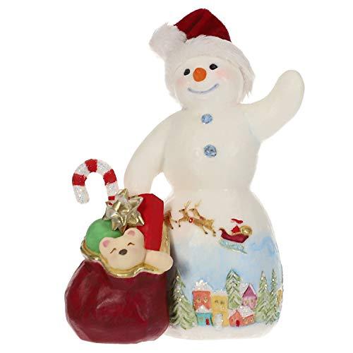 Hallmark Keepsake Christmas Ornament 2019 Year Dated Snowtop Lodge Kris O. Kindly Santa Snowman with Toys, Porcelain