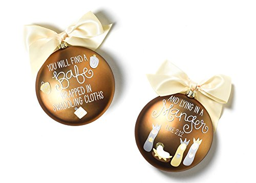 Coton Colors The Birth Of Christ Glass Ornament – Luke 2:12