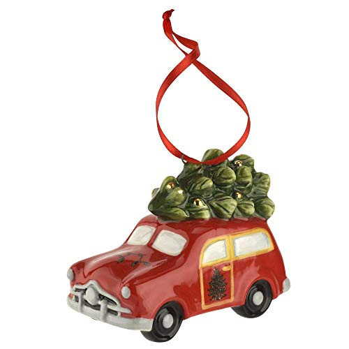 Spode Christmas Tree Station Wagon Ornament 3″