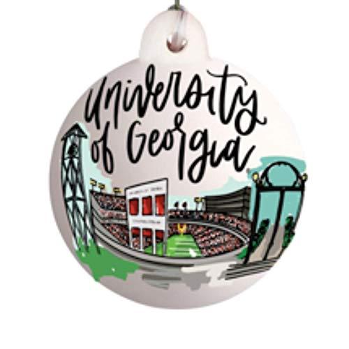 Georgia Bulldogs Landmark Ball Ornament