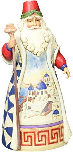 Jim Shore for Enesco Heartwood Creek Greek Santa Figurine, 7-Inch