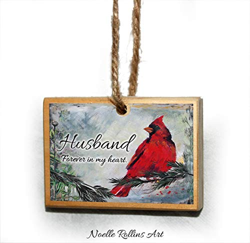 Husband remembrance Christmas ornament with poem