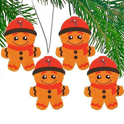 Tampa Bay Buccaneers Gingerbread Ornament Set