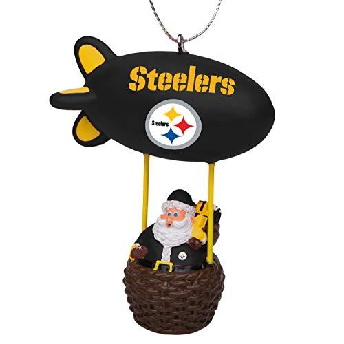 NFL Pittsburgh Steelers Santa Blimp Ornamentsanta Blimp Ornament, Team Color, One Size