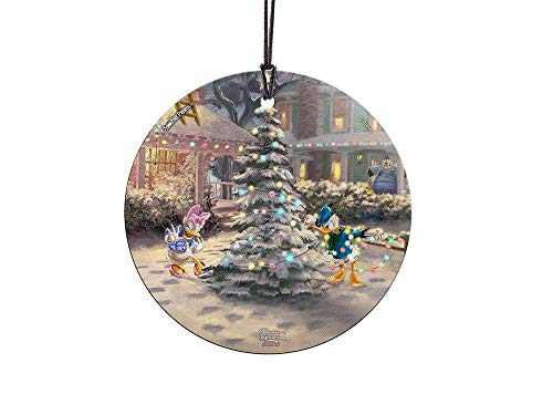 Trend Setters Disney – Donald Duck – Daisy Duck – Victorian Christmas – Starfire Prints Hanging Glass – Ideal for Gifting and Collecting