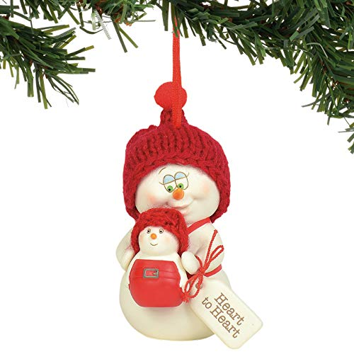 Department 56 Snowpinions Heart Hanging Ornament, 3″, Multicolor