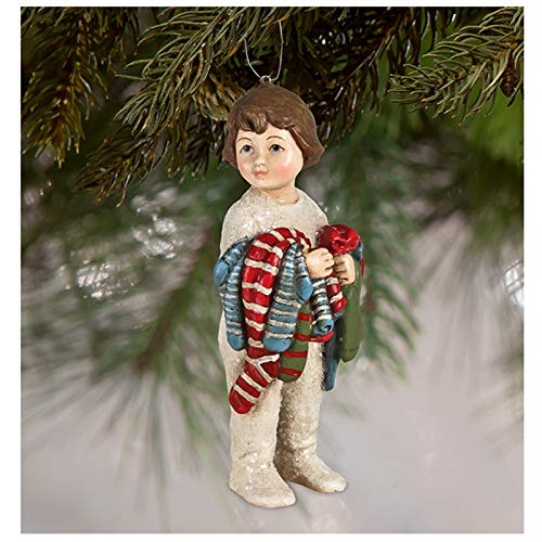 Bethany Lowe Fill My Stocking Girl Christmas Ornament Retro Vintage Style Decor