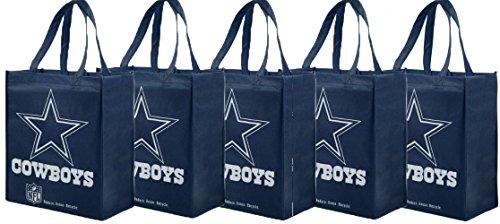NFL Dallas Cowboys Printed Non-Woven Polypropylene Reusable Grocery Tote Bag (5)