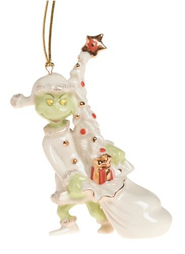 Lenox Grinch Away with the Tree Porcelain Ornament