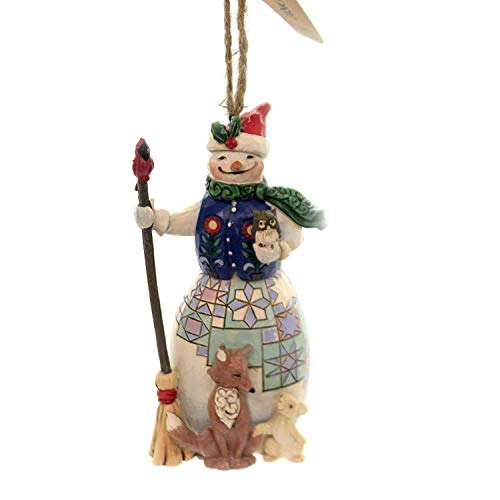 Enesco Jim Shore Hanging Ornament Snowman with Animals