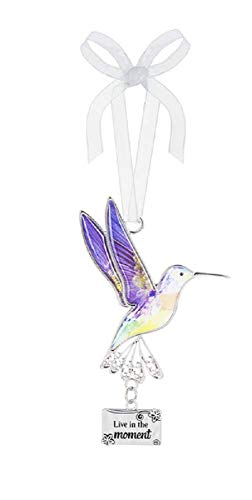 Ganz Decor Life is Beautiful Hummingbird Ornament 3.75″ H (Live in The Moment)