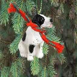 Pointer Miniature Dog Ornament – Black & White