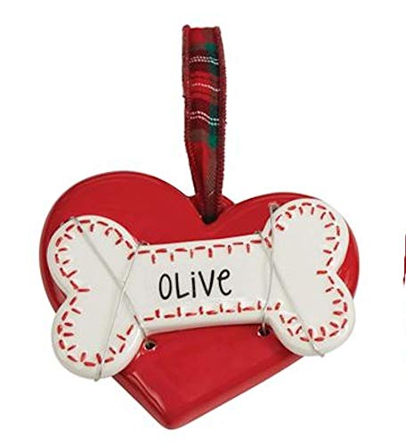 Mud Pie Red Heart Dog Ornament