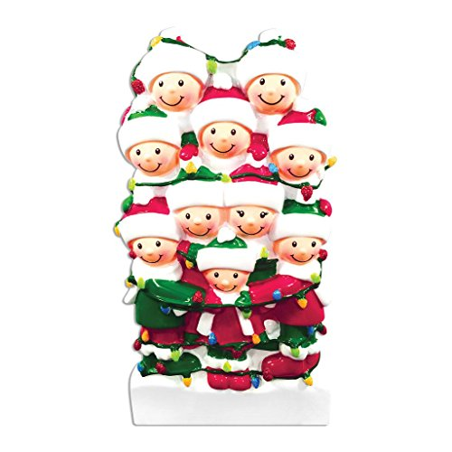 Polar X Tangled in Lights (Family 10) Christmas Ornament