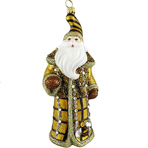 Joy To The World Beehive Jeweled Santa Ornament by