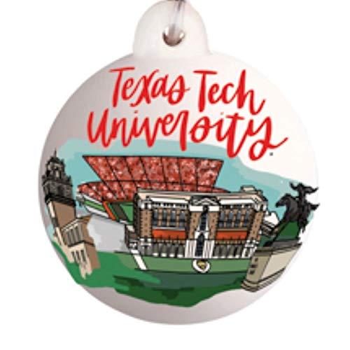 Glory Haus Texas Tech Landmark Ball Ornament