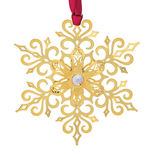 Beacon Design Brilliant Gold Snowflake Ornament