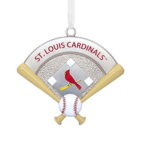 Hallmark MLB St. Louis Cardinals Home Plate Metal Ornament City & State; Sports & Activities