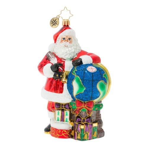 Christopher Radko Where to Next Christmas Ornament, Red, Blue