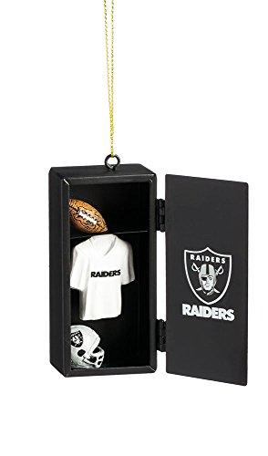 Team Sports America Oakland Raiders Team Locker Ornament