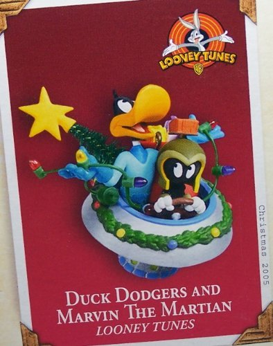 QXI8765 Duck Dodgers and Marvin The Martian Looney Tunes 2005 Hallmark Keepsake Ornament