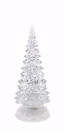Ganz Small Christmas Light Up Swirling Glitter Tree Decor Standard