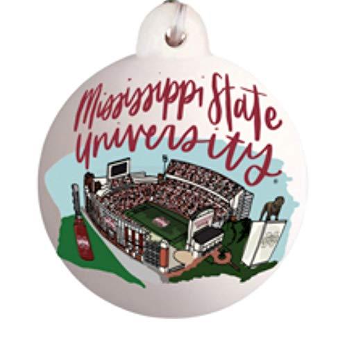 Glory Haus Mississippi State University Landmark Ball Ornament