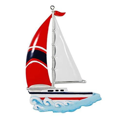 Polar X Personalized Sailboat Christmas Ornament