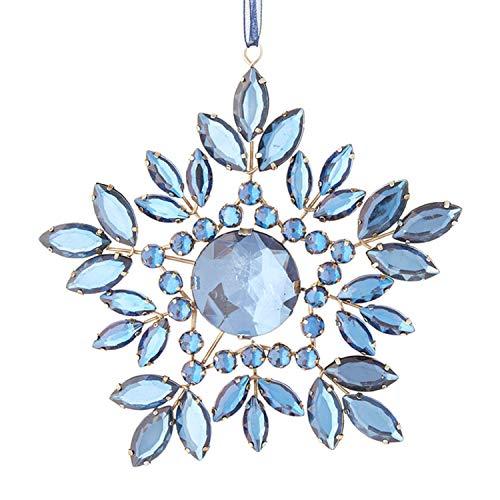 Raz, 3913515, Jeweled Snowflake Ornament, 6 Inches