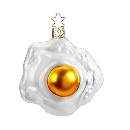 Inge Glas Fried Egg German Glass Christmas Tree Ornament Free Box