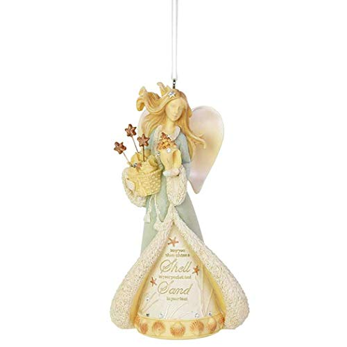 Enesco Heart of Christmas Seaside Angel, 4.65″, Multicolor