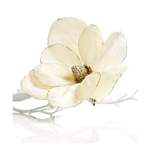 Holiday Lane Shimmer and Light Magnolia Clip Ornament