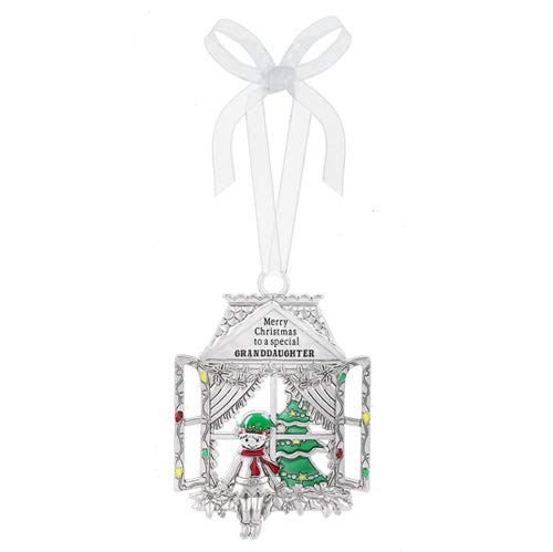 Ganz Merry Christmas to a Special Granddaughter Decorative Hanging Ornaments, Silver Multi
