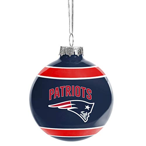 FOCO New England Patriots Glass Ball Ornament – Limited Edition Patriots Ornament – Represent The NFL and Show Your Team Spirit with Officially Licensed New England Football Holiday Fan Decoration