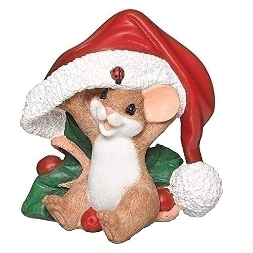 Roman 3 Inches Mouse Santa Hat Figurine Holiday Spirit Charming