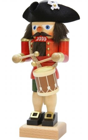 Alexander Taron 32-662 Christian Ulbricht Nutcracker-Red Drummer-10 H W x 4″ D, Brown