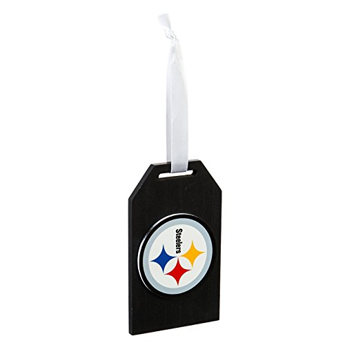 Team Sports America Pittsburgh Steelers Team Logo Gift Tag Ornament, Set of 2