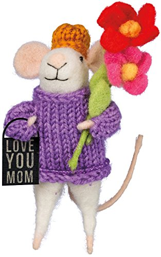 Felt Mouse Love You Mom 5 inches Tall