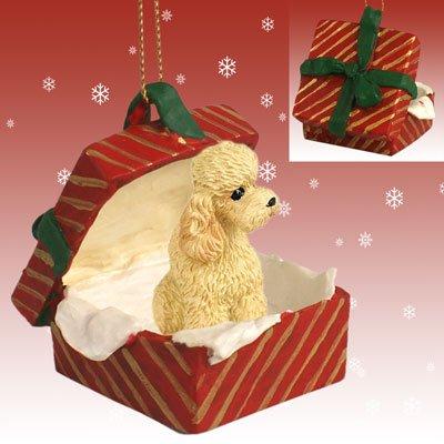 Conversation Concepts Poodle Apricot w/Sport Cut Gift Box Red Ornament