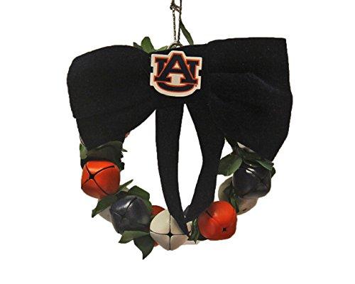 Auburn Tigers NCAA Slogan Team Logo Bell Wreath Jingle Bell Ornament