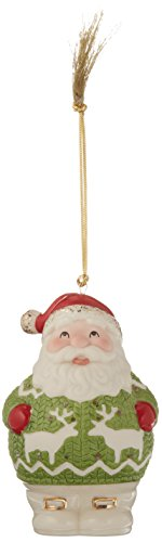 Lenox 870928 Christmas Sweater Ornament Santa